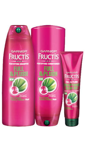 Бесплатный образец Garnier® Fructis Full & Plush Haircare